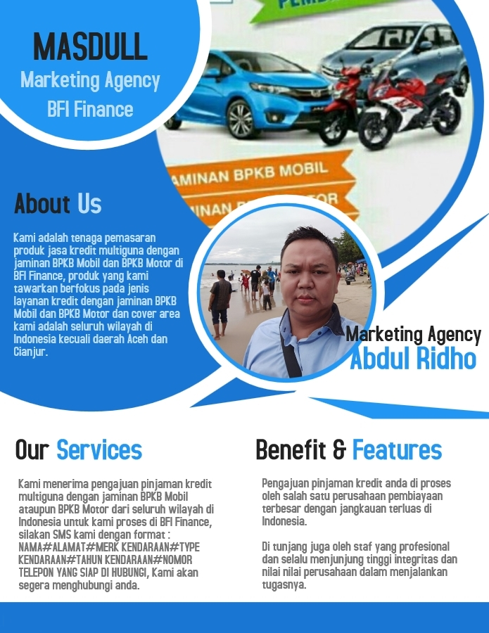 ABDUL RIDHO - SALES KREDIT BFI FINANCE - 081315627122 - MARKETINGGADAIBPKB