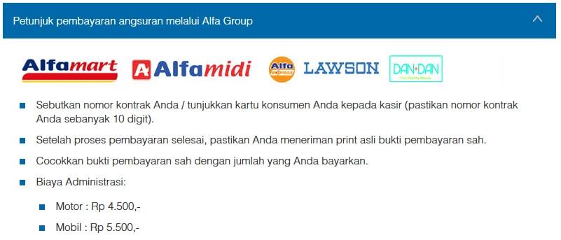 Petunjuk Cara Pembayaran Angsuran Melalui Alfa Group