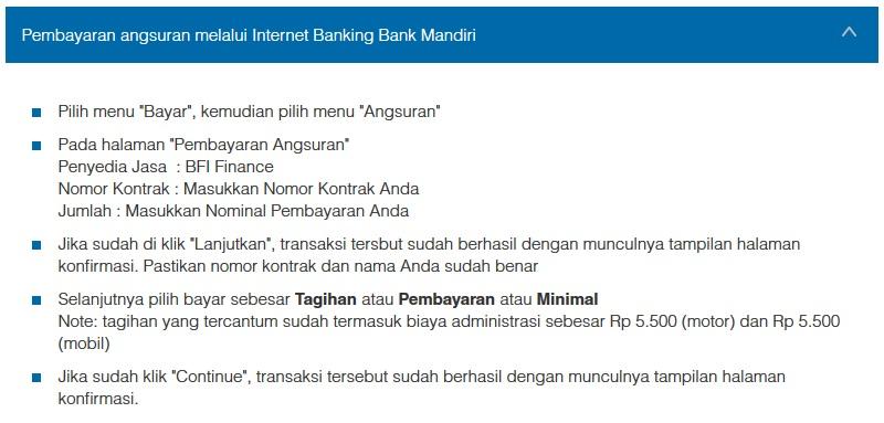 Petunjuk Cara Pembayaran Angsuran Melalui Internet Banking Bank Mandiri