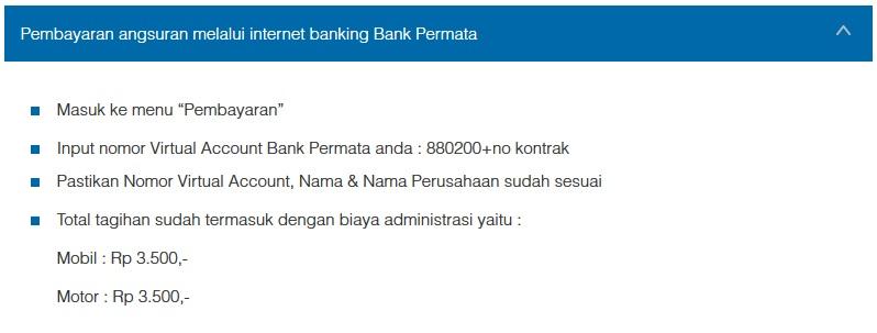 Petunjuk Cara Pembayaran Angsuran Melalui Internet Banking Bank Permata