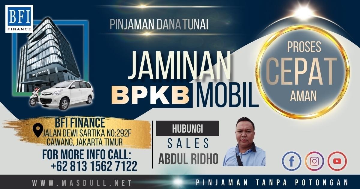 BANNER IKLAN KREDIT JAMINAN BPKB MOBIL 3 HARI KERJA CAIR - BFI FINANCE